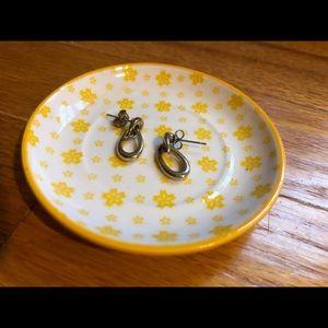 Jewelry - silver oblong hoop studs